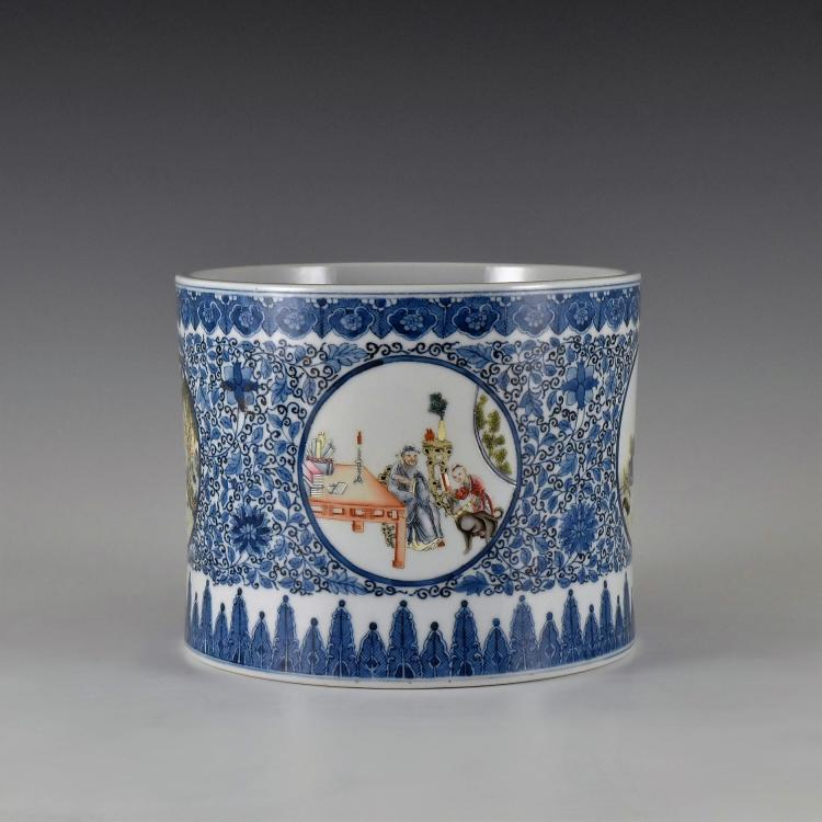 YONGZHENG PORCELAIN BRUSH POT