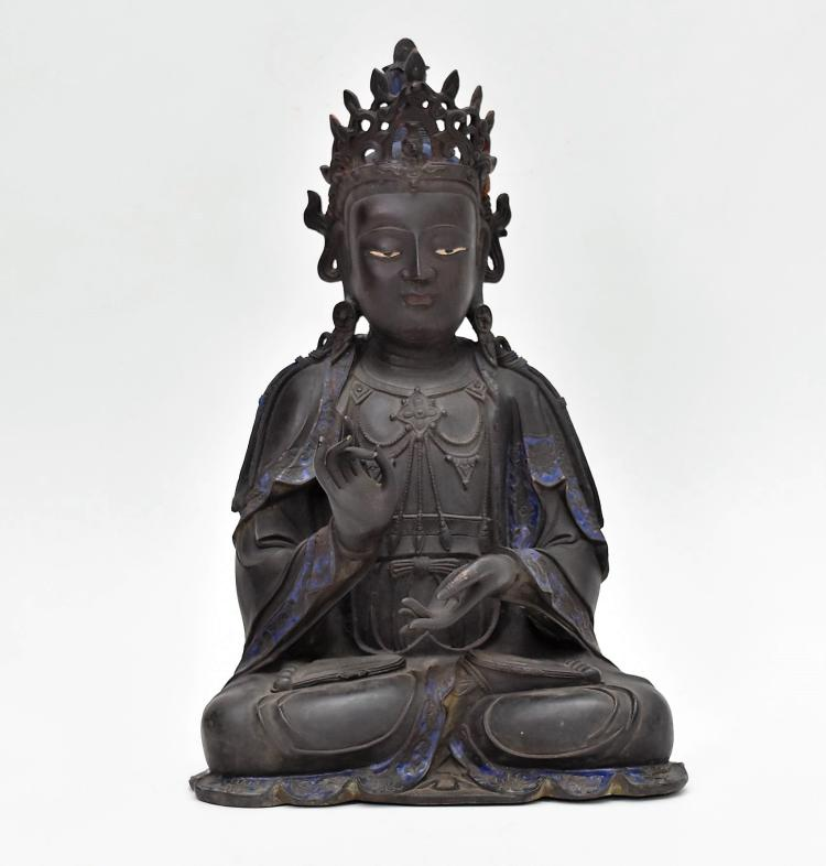 MASSIVE BRONZE BUDDHA OF BODDHISHATVA