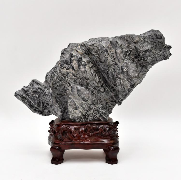 LEANING CHINESE SCHOLAR LINGBI STONE  ROCKWORKS