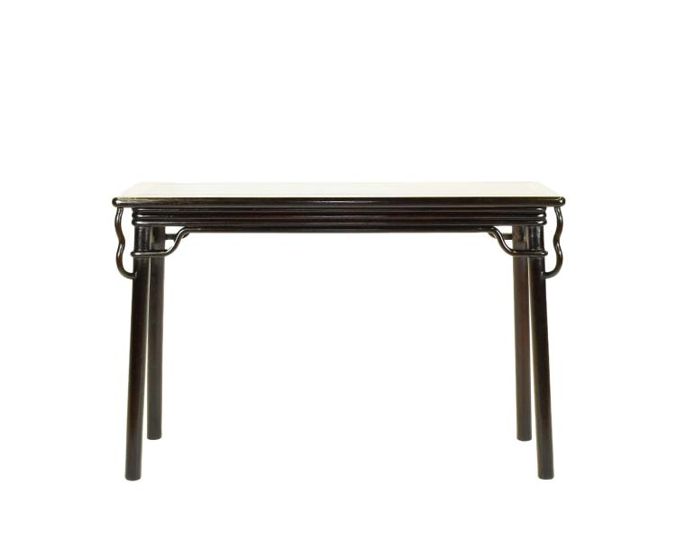 A CARVED ZITAN SIDE ALTAR TABLE