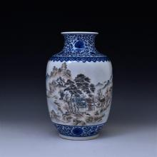 QING OPEN FACE PANORAMIC VASE