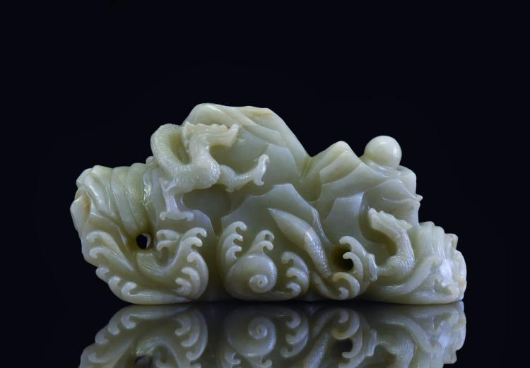 DRAGONS ON ROCKY MOUNTAIN JADE BOULDER
