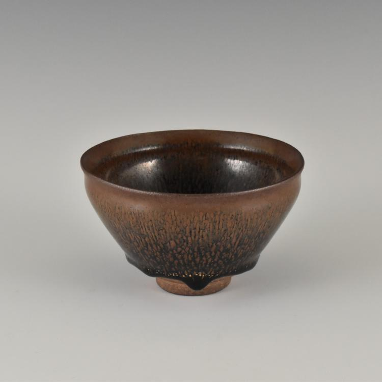 CARMINE RED JIAN WARE TEA BOWL
