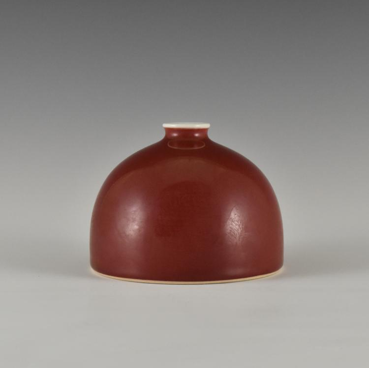 FINE IRON-RED GLAZED BEEHIVE BRUSH WASHER