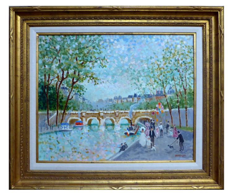 MONNARO, PARIS RIVER SCENE