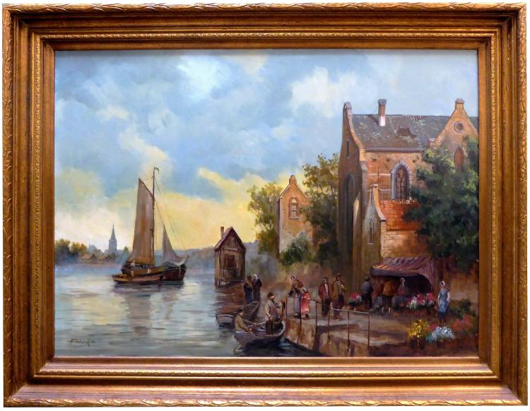 TRIPMACKER, DUTCH VILLAGE ON RIVER