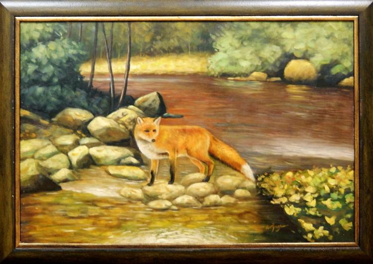 W. JONES, FOX ON THE RIVER