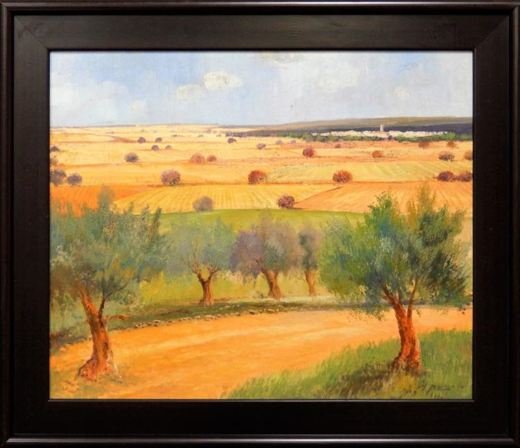 AZNAR, LANDSCAPE WHEAT FIELDS