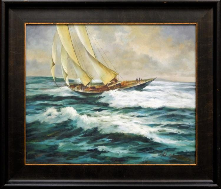 D KWELER, SAILING ON ROUGH SEAS