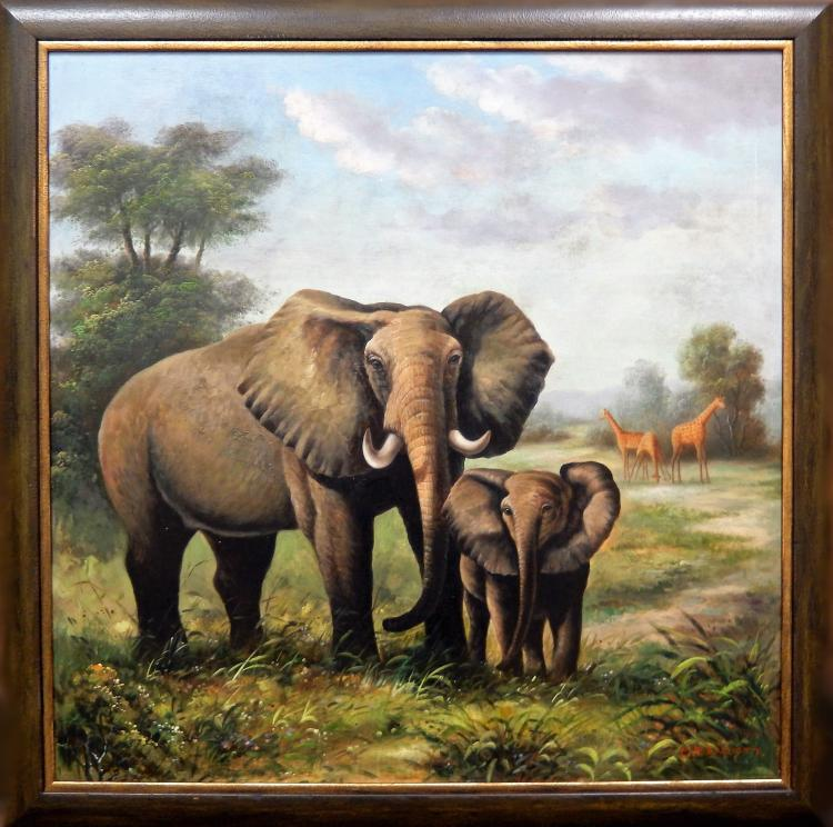 MP ELLIOT, ELEPHANTS & GIRAFFES