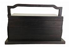 Chinese Zitan Three Tiers Lunch Box