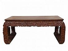 Enormous Large Chinese HuangHuaLi Painting Table