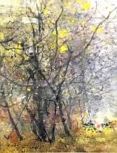 CHEN CHI 'AUTUMN' watercolor, Signed & Stamped