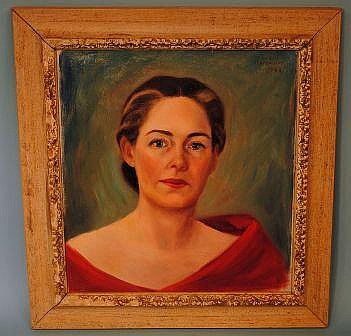 Vera L. Stephenson 1961 Painting, Self Portrait