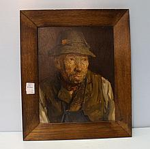 Oil on Canvas of Bavarian Man by Josef Jungwirth