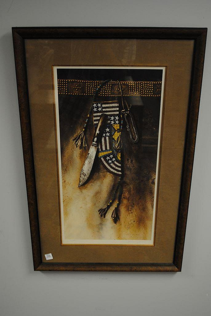 One Indian Print by Lisa Danielle Lorimer, 1982,
