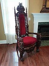Kings Chair Red Velvet (1)
