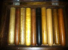 African Wooden Cigar Box/with wooden Cigars