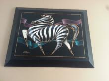 Oil Painting - Zebra