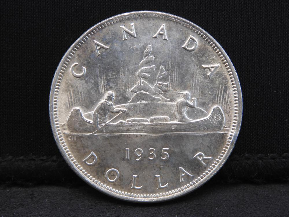 1935 UNCIRCULATED Canada Silver Dollar - Beautiful!