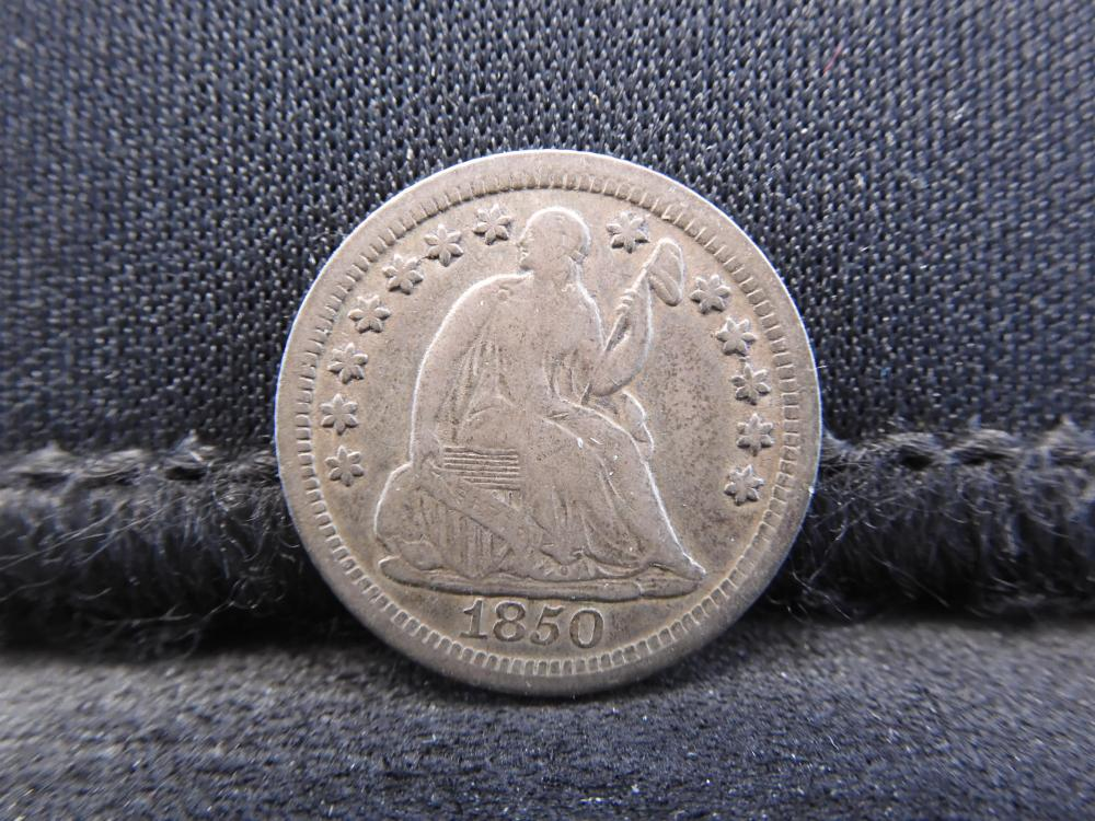 1850-O Seated Liberty Silver Half Dime - Better Date! - VF Condition!