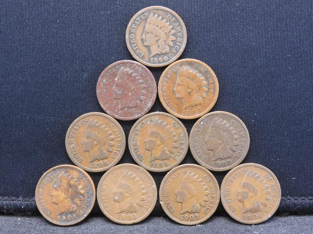 Indian Head Cents - 1890 to 1904 - Not All Inclusive