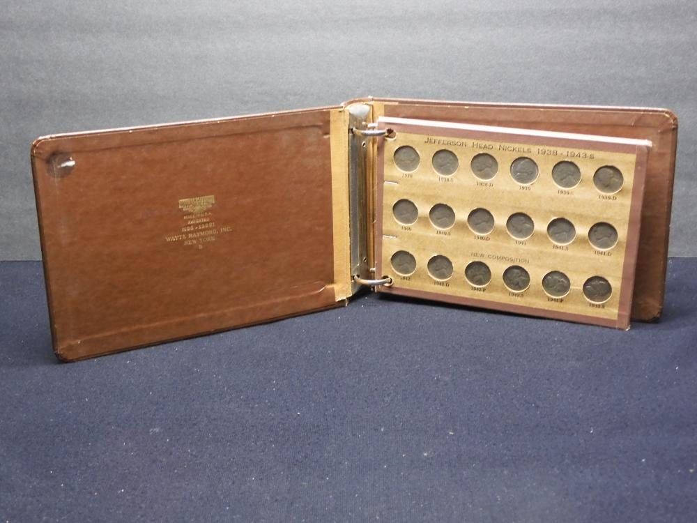 The National Coin Album - Jefferson Head Nickels - 1938-1956 - Collected in a 2 Ring Binder