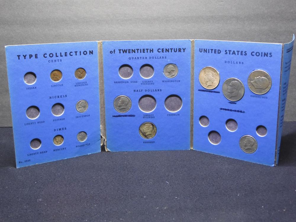 Partial Collection Whitman #9046 - Type Collection of 20th Century U.S. Coins - 12 Coins