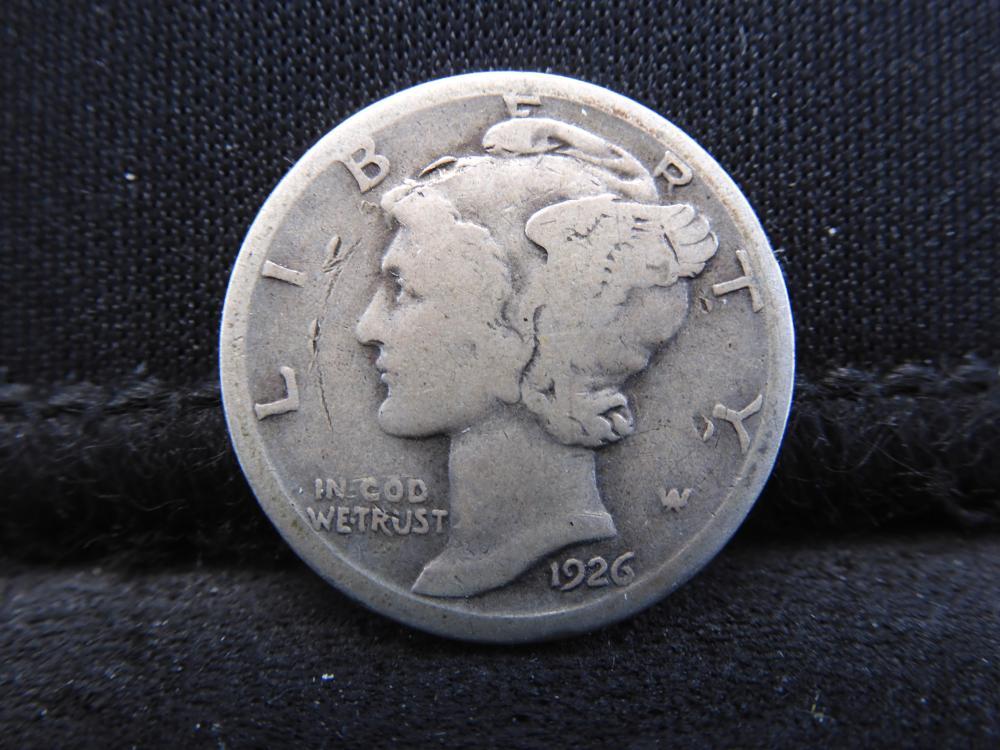 1926-S Mercury Silver Dime - Semi-Key Date
