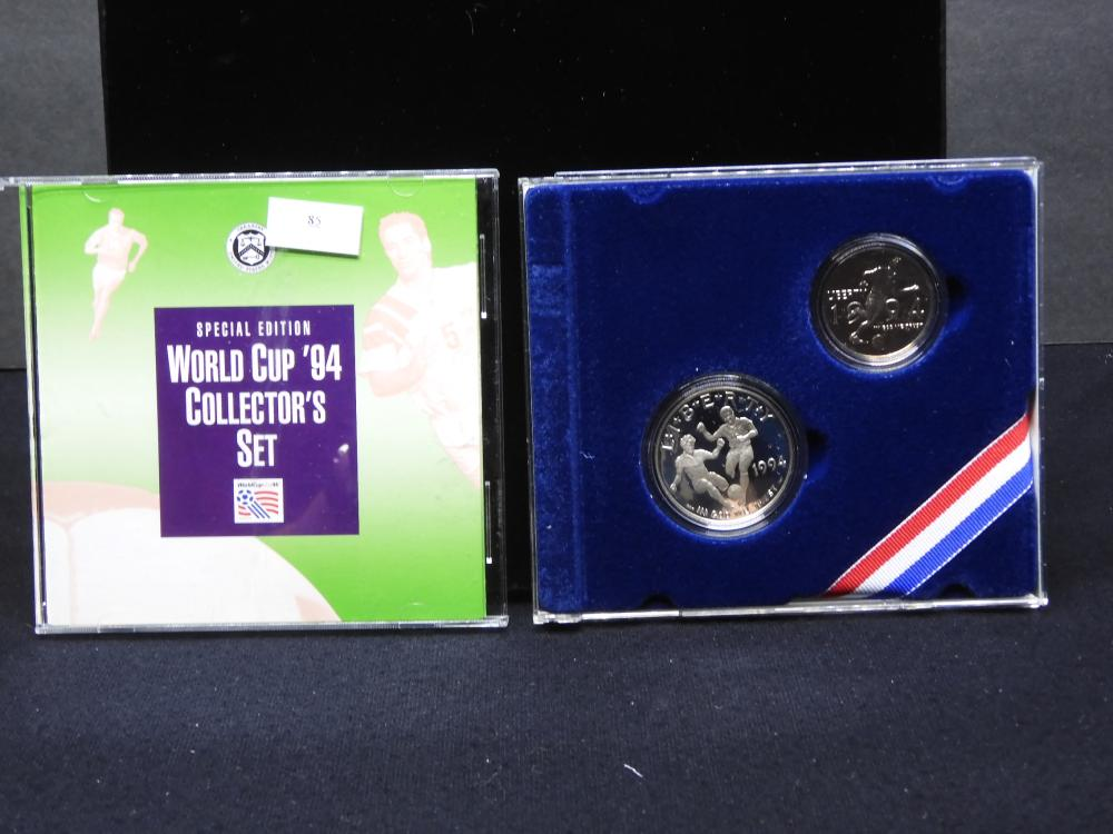 Special Edition World Cup Soccer Collector's Set - 2 Coin Set Featuring 1994-S Dollar & 1994-P Half Dollar