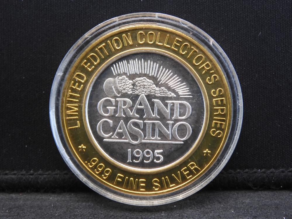 Casino Token Limited Edition .999 Fine Silver Center- 1995 Grand Casino / Seven Eleven