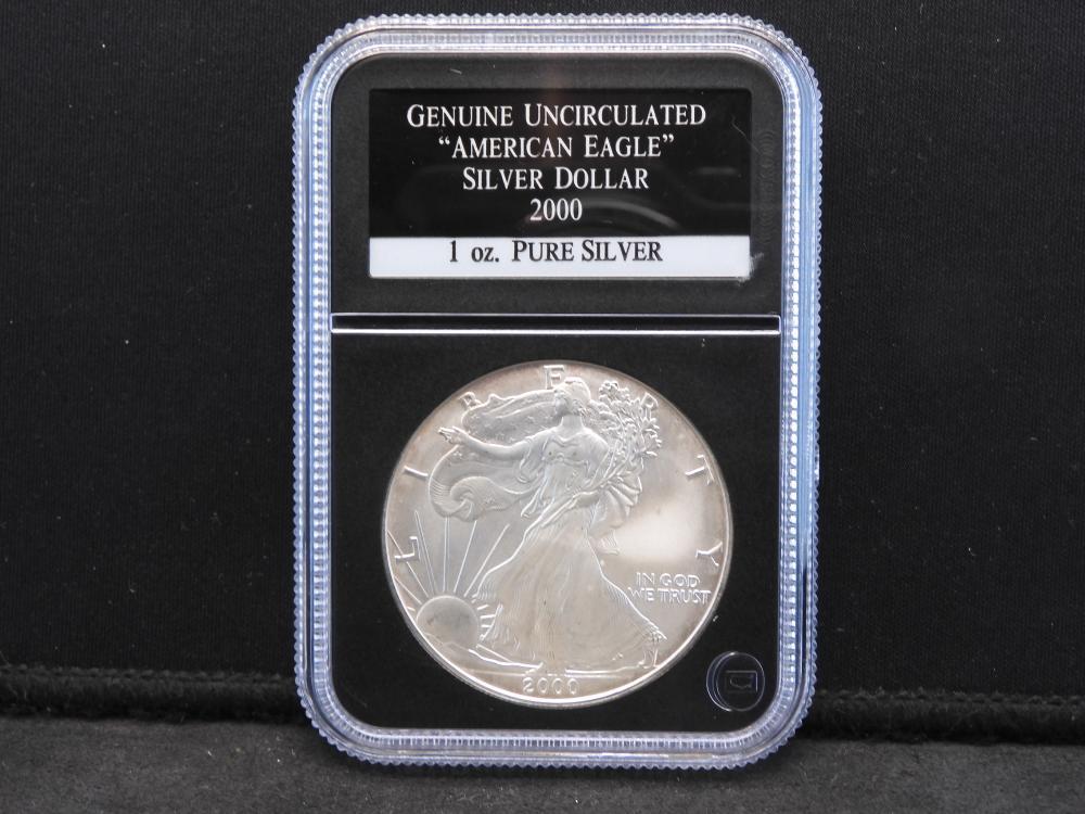 2000 American Silver Eagle - Genuine Uncirculated One Oz. Fine Silver