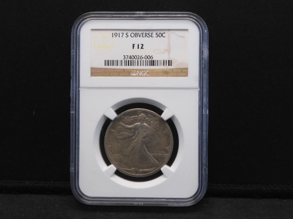 1917-S Obverse Walking Liberty Half Dollar NGC FINE 12