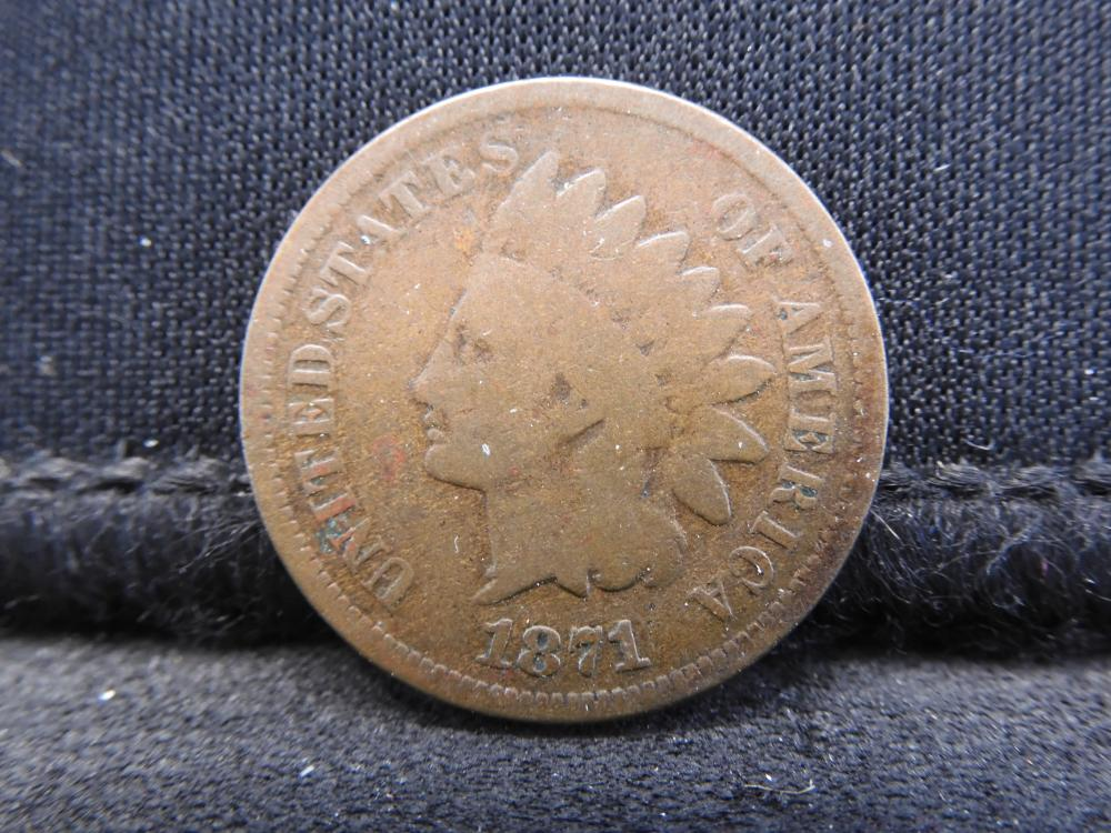 1871 Indian Head Cent - Key Date! Good/VG Condition!