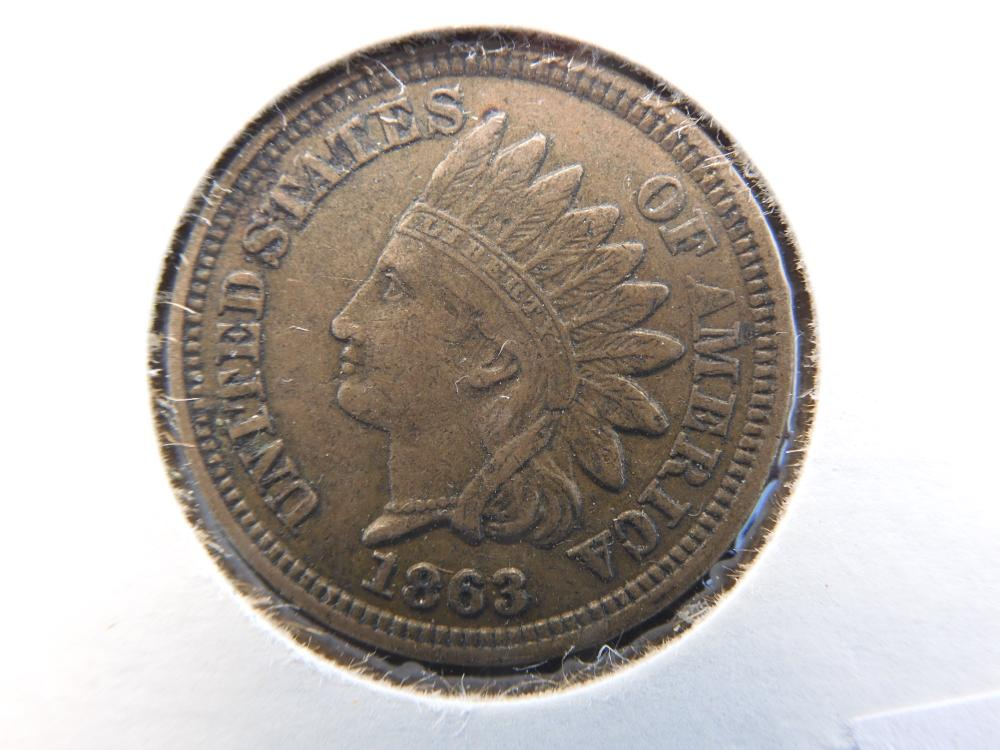 1863 Indian Head Cent. XF++ Beautiful Coin!!