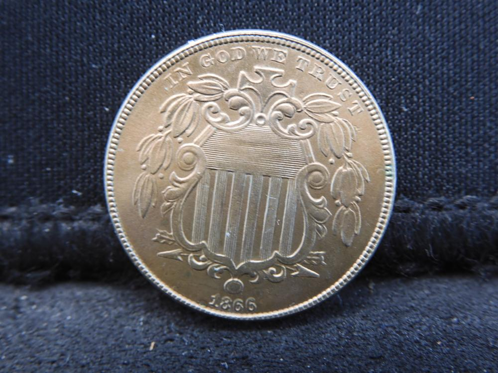 1866 Shield Nickel w/ Rays - HUGE LUSTER!!! RARE IN HIGH GRADE!!!