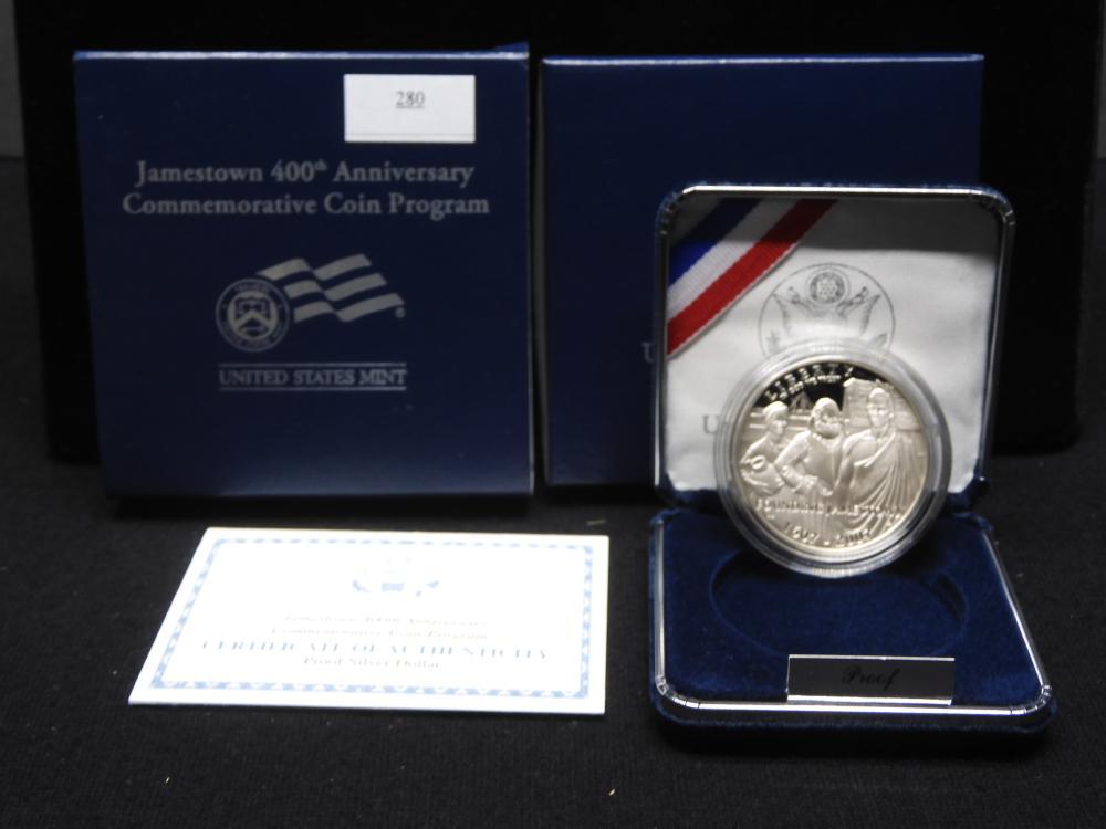 2007-P U.S. Jamestown 400th Anniv. Commem. Proof Silver Dollar OGP