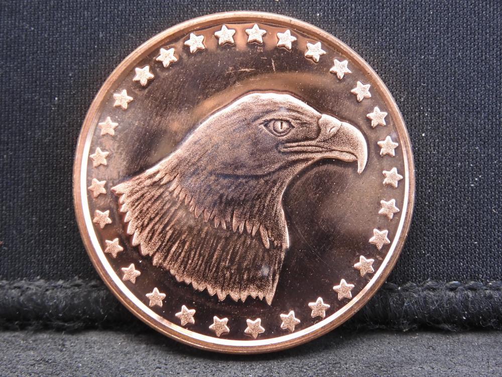 Copper - 1 oz. .999 Fine Depicting the American Eagle