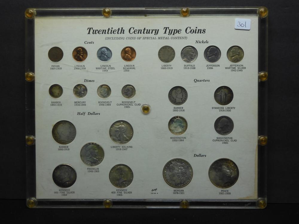 Twentieth Century Type Coin Set - Includes GEM UNC Dollars, W.L. 50c, Buffalo Nickel, & More!!