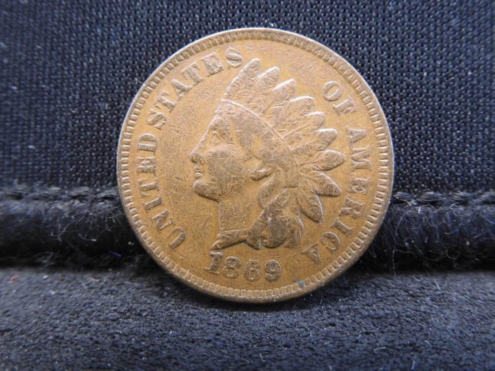 1869 Indian Head Cent - RARE Key Date! Excellent Detail!