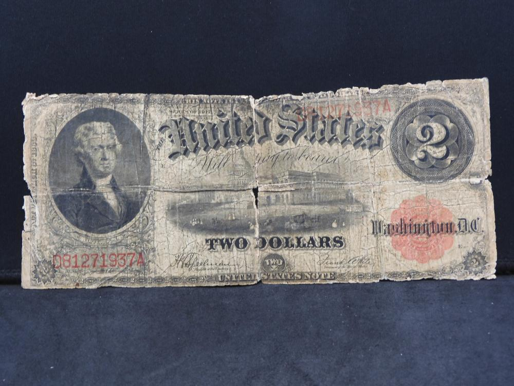 Series 1917 U.S. $2.00 LARGE Size Note