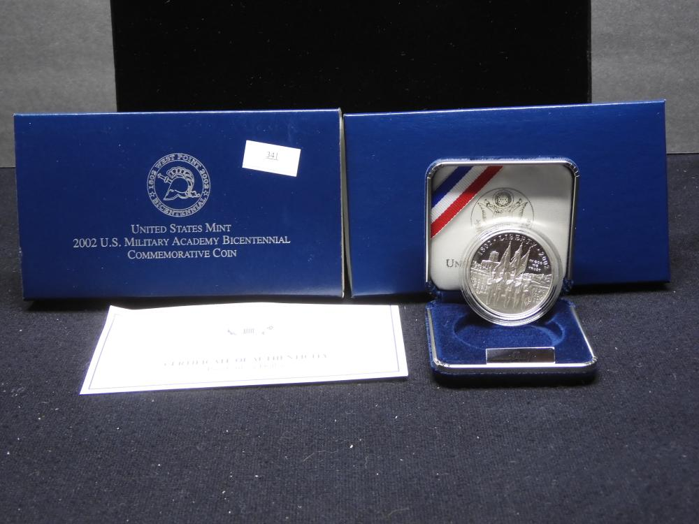 2002-W U.S. Military Academy Bicent. Commem. Proof Silver Dollar OGP