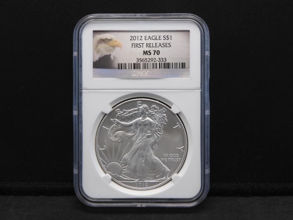 2012 NGC MS70 First Releases American Silver Eagle - Perfect Grade!