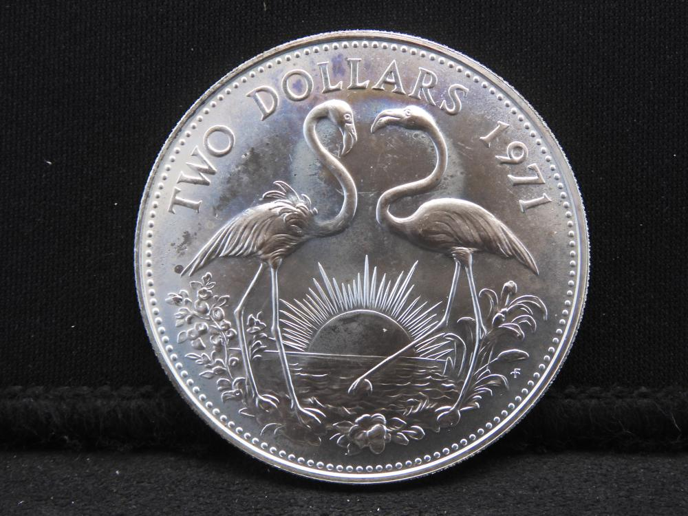 1971 Sterling Silver $2.00 Commonwealth of the Bahama Islands