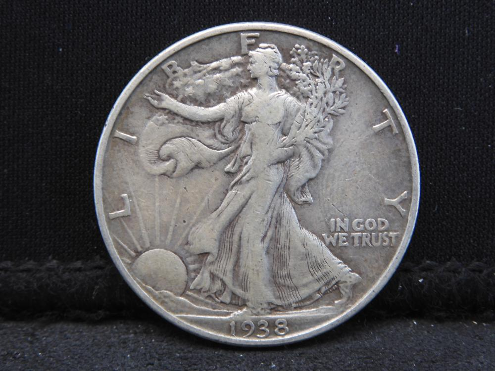 1938-D Walking Liberty Silver Half Dollar - Key Date!!