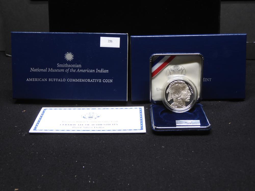 2001-P U.S. American Buffalo Commem. Proof Silver Dollar OGP - Beautiful!!