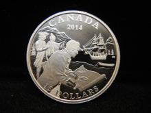 Royal Canadian Mint 2014 $15 Fine Silver Coin Exploring Canada: The West Coast Exploration