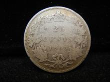 1883-H Canadian 25 Cents  92.5% Silver
