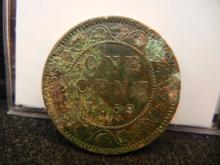 1859 Canadian Large Cent Key Date