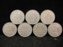(7) Great Britain 2 Shillings 1950's Mixed Dates